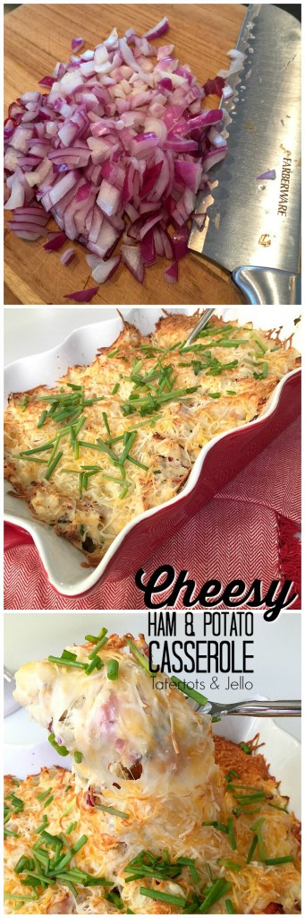 Cheesy Ham and Potato Casserole Recipe. A great way to use ham and potato leftovers. Everyone will be asking for second helpings!