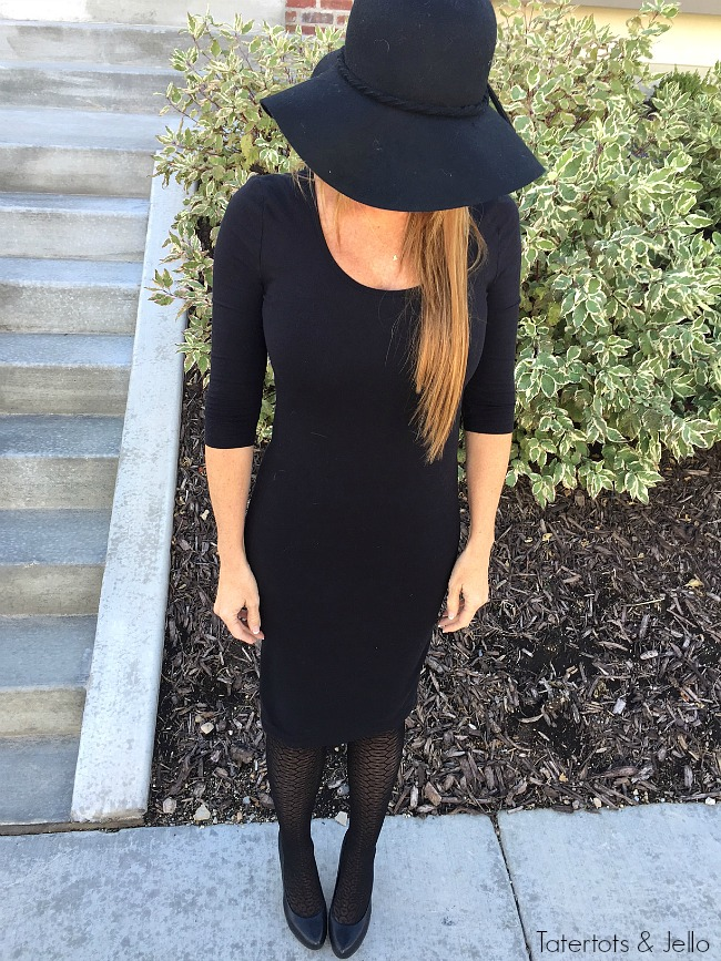 4 different ways to wear The perfect little black dress. Dress it up or down.