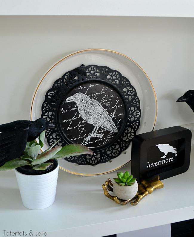 nevermore-halloween-printable-and-plate-display