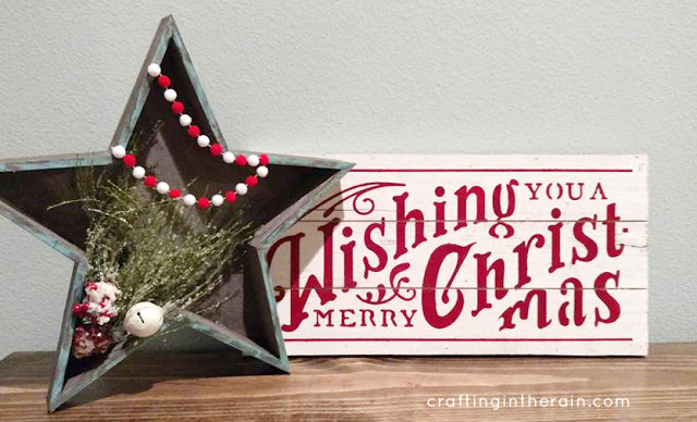 DIY Star Sign Christmas Craft