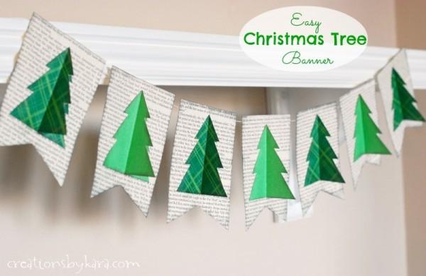 Easy christmas tree banner