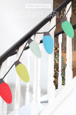 Free Printable Christmas Lights Garland