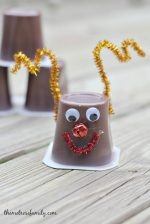 Rudolph Pudding Cups Holiday Snack Idea