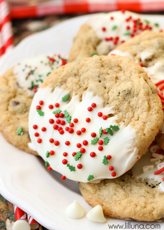chocolate Chip Christmas Cookies