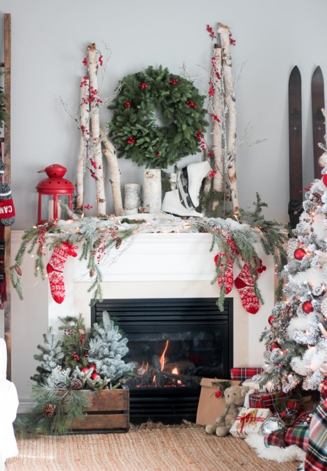 Christmas mantel ideas plus over 100 other christmas decorating ideas