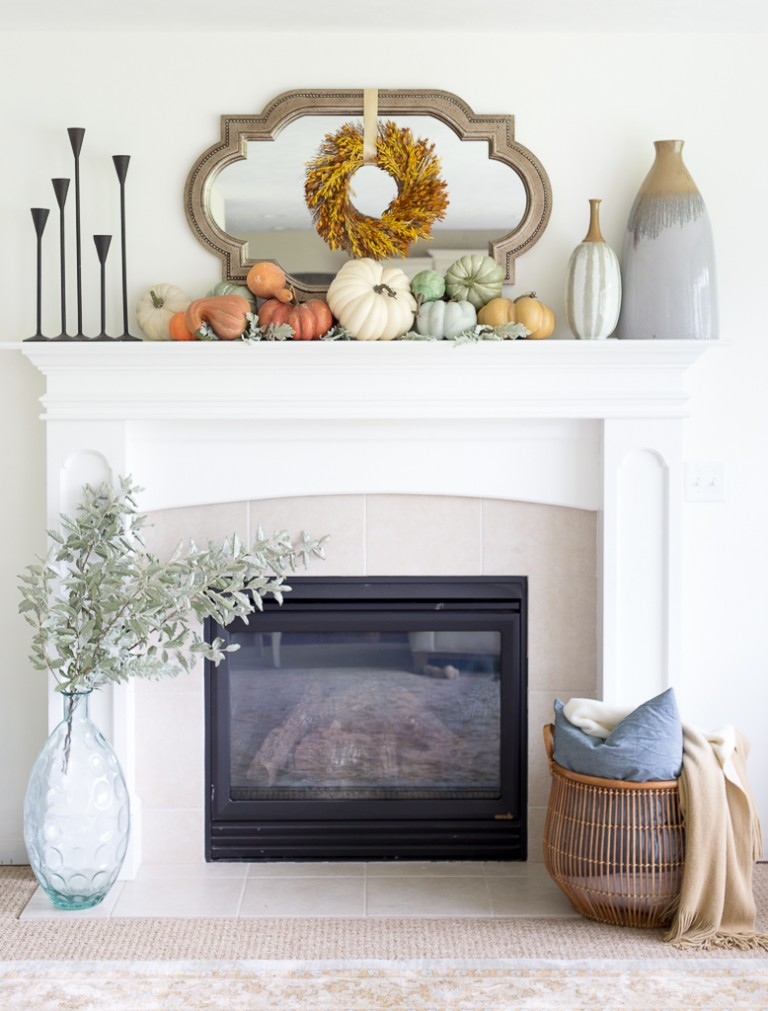 Fall Mantel from Just A Girl
