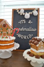 Mini Gingerbread House Cakes!