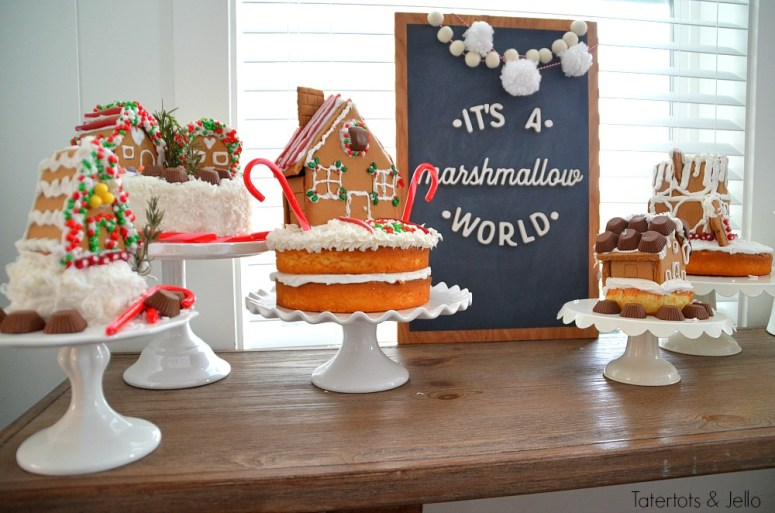 gingerbread-village-cake-party