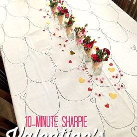 How to Make a 10-Minute Valentines Tablecloth