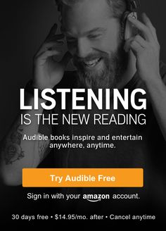 audible is a great way to listen to audiobooks and multitask. Free 30 day trial membership