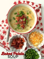 Pressure Cooker Loaded Baked Potato Soup