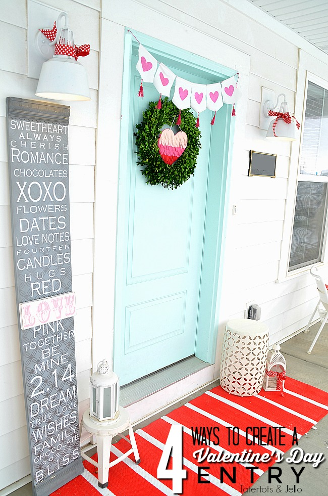 Four Ways to Decorate YOUR Door for Valentine Day