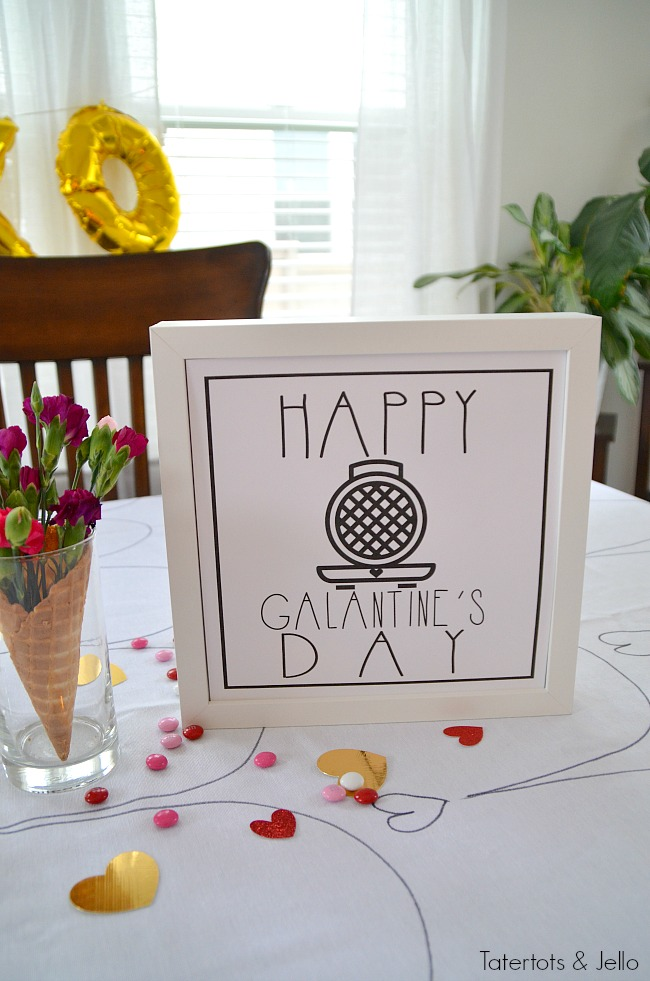 5 ways to throw the ultimate galantine's party. Get your lady friends together and celebrate friendship with waffles, photos and fun. Printables included.