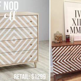 Land of Nod-inspired Dresser Knock-Off Makeover