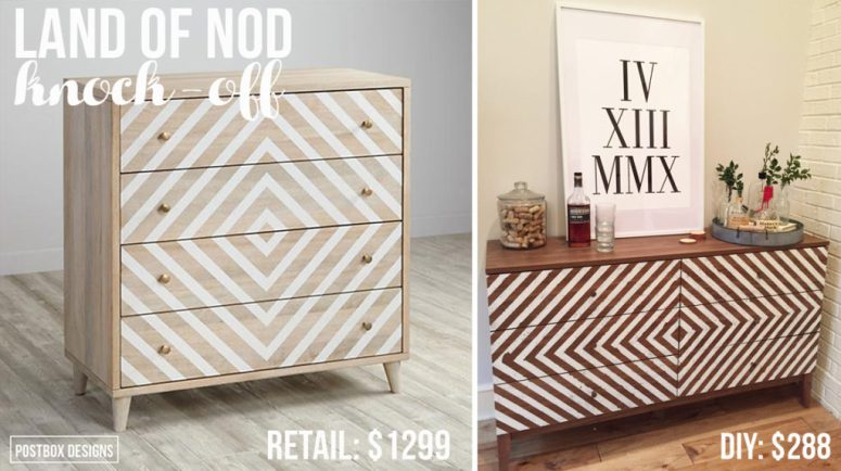 Land of nod dresser makeover. Turn an old dresser into a showpiece with paint. DIY tutorial.