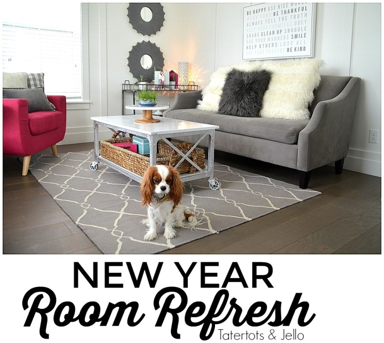 New Year Room Refresh: Modern Farmhouse Living Room