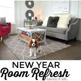 New Year Room Refresh: Modern Farmhouse Living Room