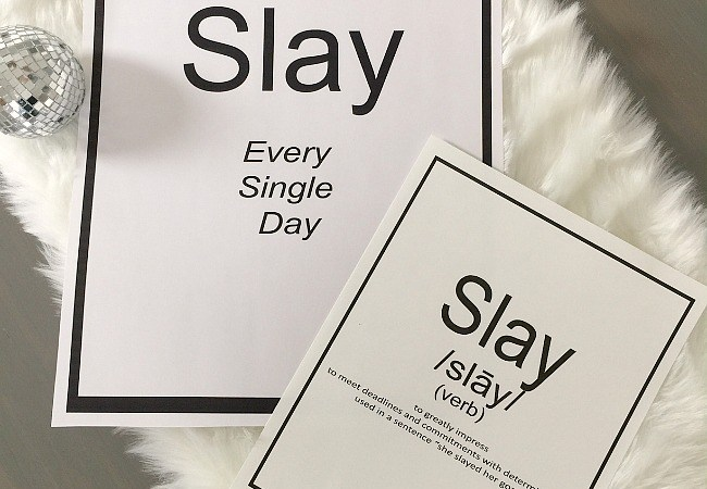 SLAY Word of the Year: Free Motivational Printables