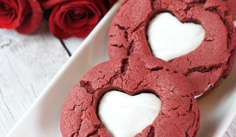 4 Ingredient Red Velvet Cookies