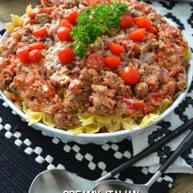 Creamy Italian Sausage Skillet Recipe