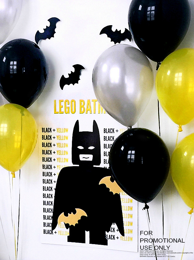 Lego Batman Party game and pin the tail on batman printables.