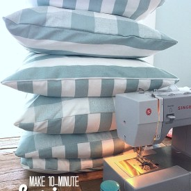 Make 10-Minute Spring Pillow Covers