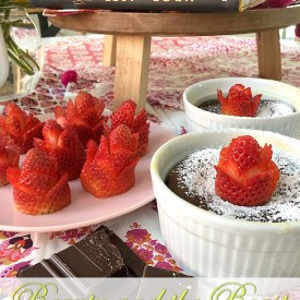 Beauty and the Beast Molten Chocolate Souffles and Strawberry Roses