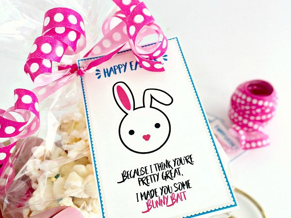 Bunny Bait Gift Idea and Printable Tags