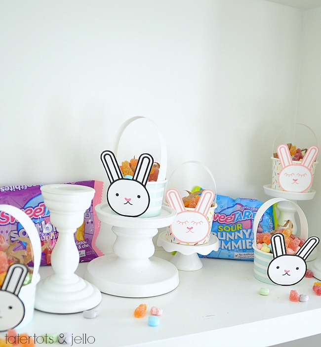 Make Mini Easter Bunny Baskets for friends and neighbors this Spring!