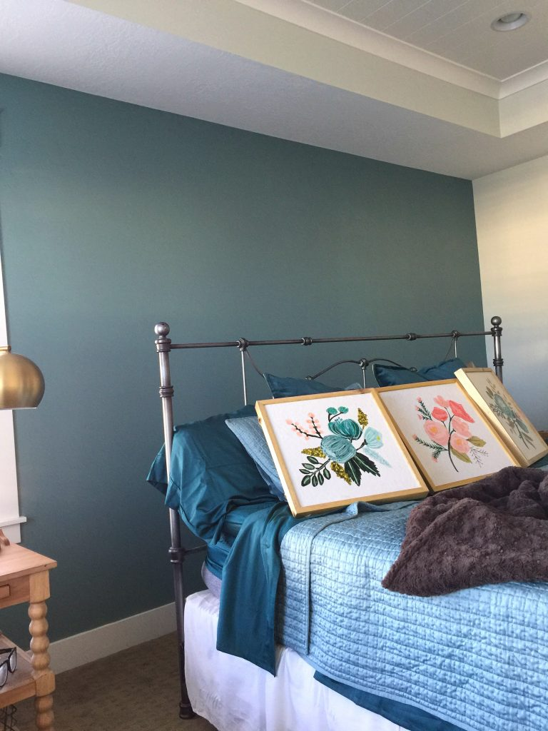 Captivating Painting A Focal Wall Can Take The Stress Out Of Adding A Bright Or Dark  Paint