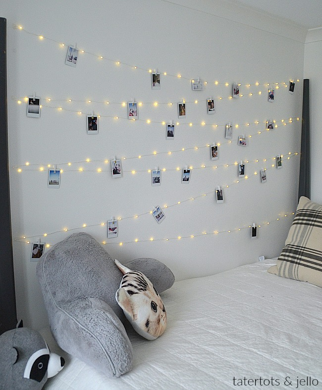 Tween Teen Fairy Light Photo Wall