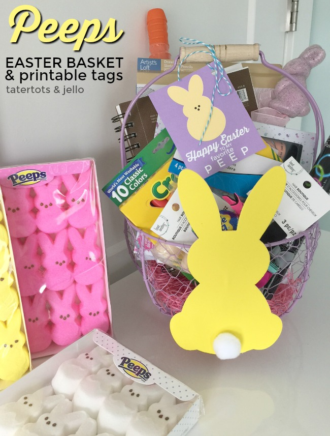 picture relating to Easter Basket Printable named PEEPS Easter Basket and Printable Tags