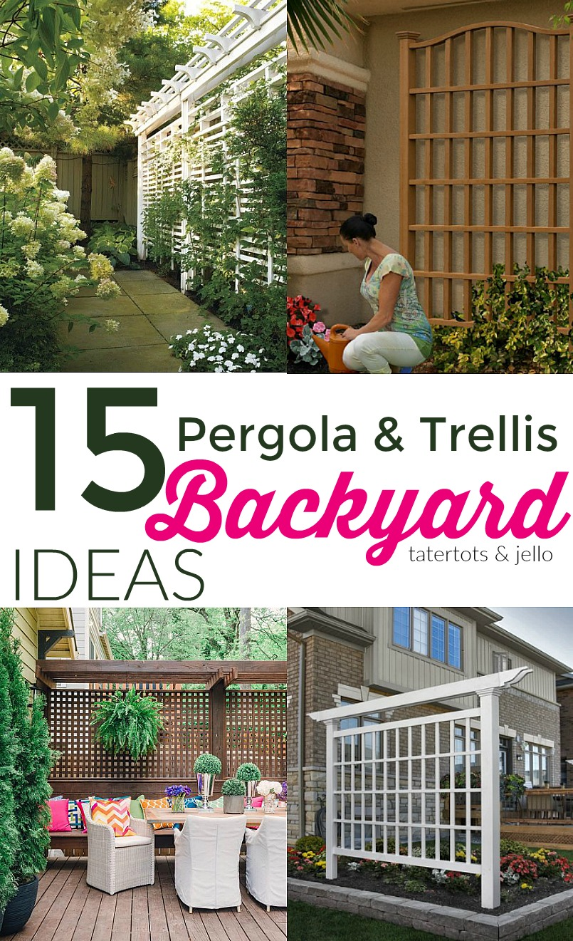 Picture of: 15 Outdoor Privacy Screen And Pergola Ideas