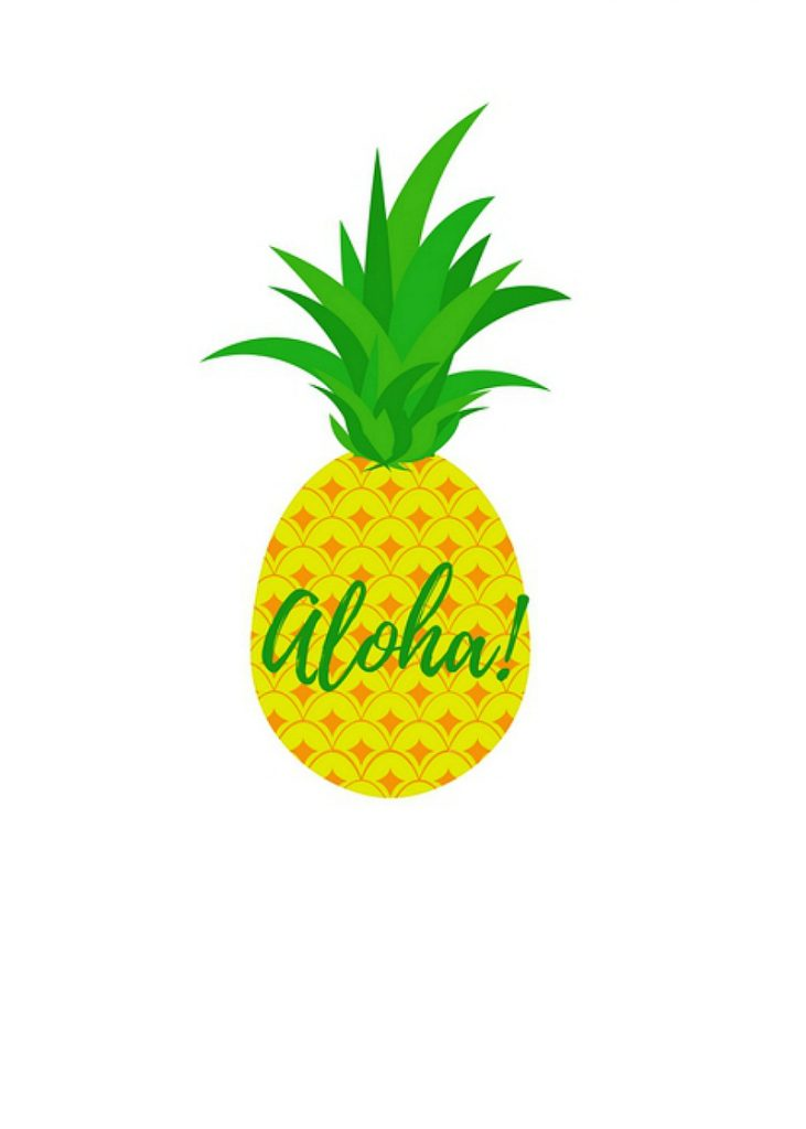 image relating to Printable Pineapple identify Pineapple Printable Cupcake Toppers