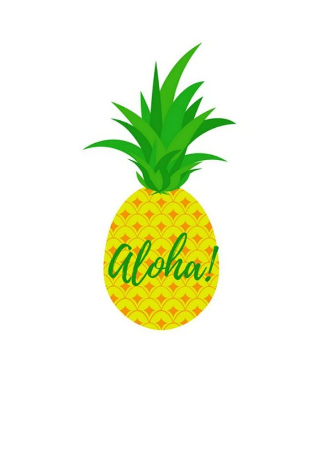 Persnickety image in free printable pineapple