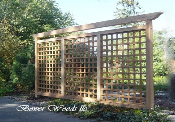 15 outdoor privacy screen and pergola ideas for Lattice yard privacy screen