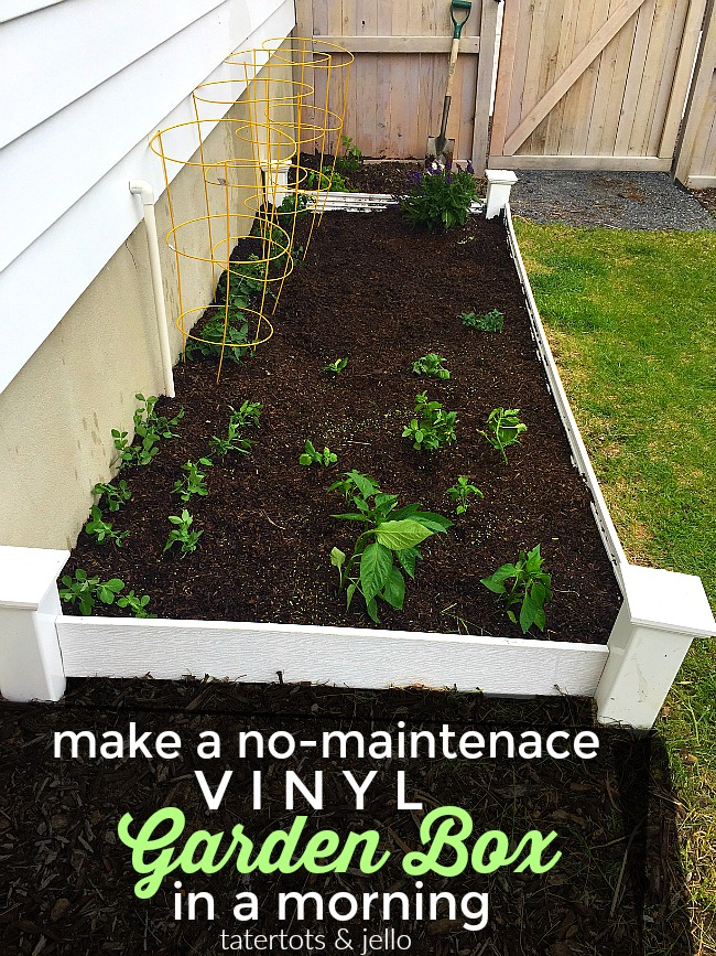 How To Make A Vinyl Garden Box In One Morning Without Big Tools. Have Your