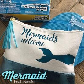 Mermaids Welcome Heat Transfer Summer Pool Bag