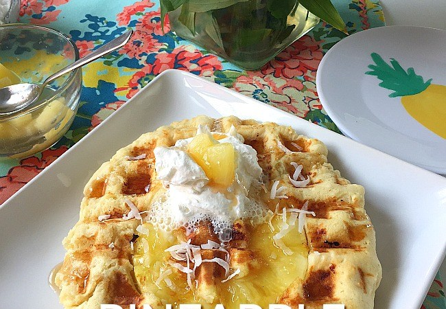 Pineapple Upside Down Waffles