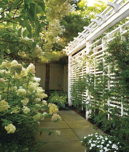 15 Outdoor Privacy Screen And Pergola Ideas. Fairfield Arbor. Slat Lattice  Fence