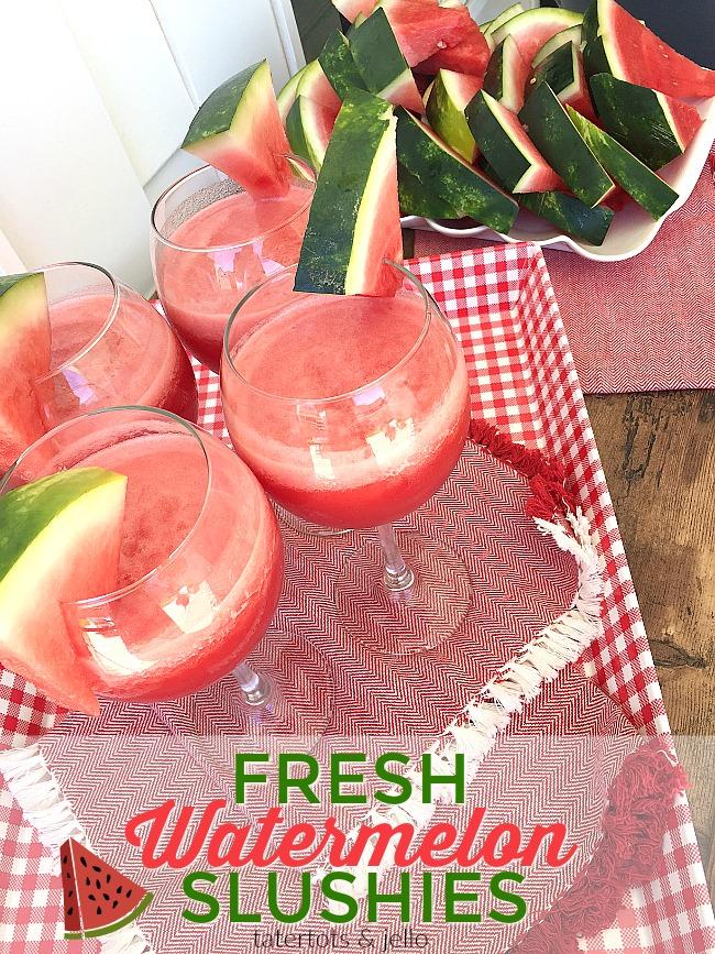 Fresh and Delicious Watermelon Slushies!