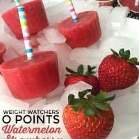 Weight Watchers Zero Points Watermelon Strawberry Popsicles