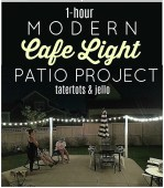 One Hour Modern Cafe Light Patio Project