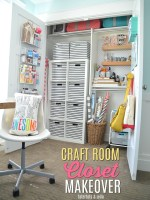 Craft Room Closet Makeover Organizing!