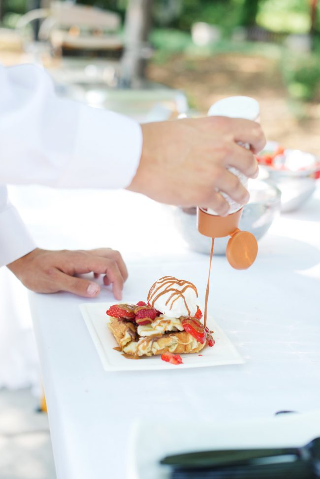 Simple Wedding Food Waffle Love