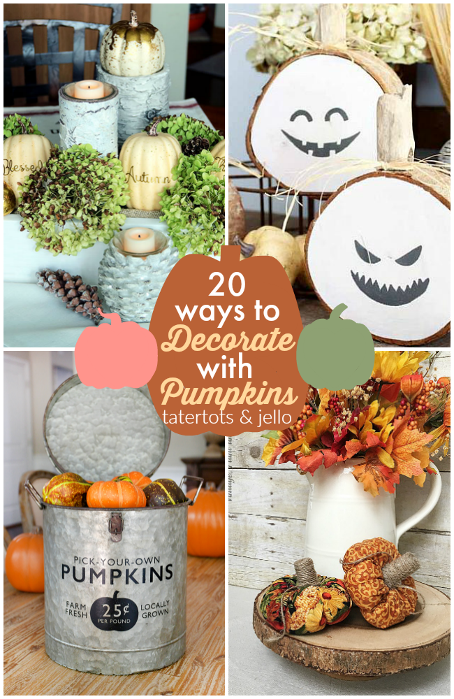 Great Ideas -- 20 Ways to Decorate with Pumpkins!
