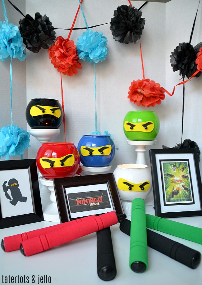 NINJA Dollar Store Lantern Party Craft