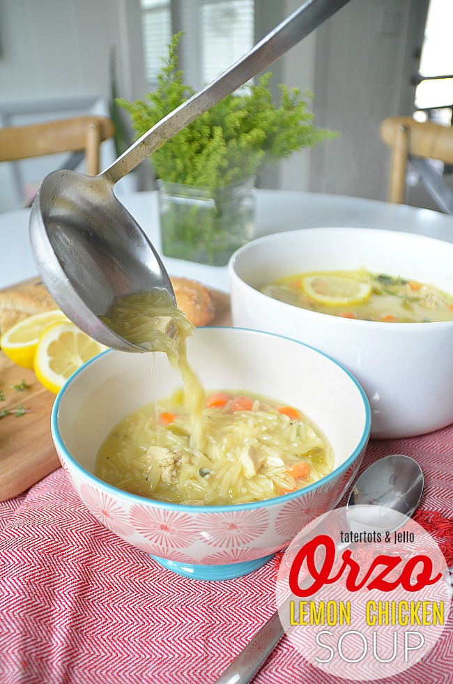 Creamy Lemon Chicken Orzo Soup with a Kick!