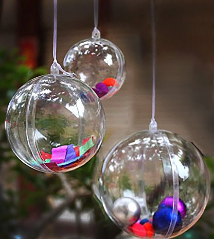 clear fillable plastic ornaments