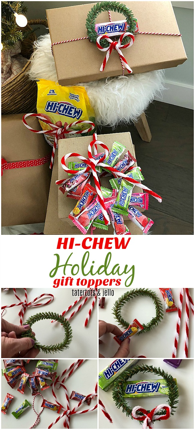 DIY HI-CHEW Holiday Gift Toppers!